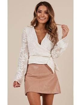 Midnight Mischief Lace Top In White by Showpo Fashion