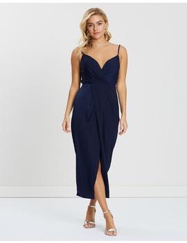 Caroline Cowl Back Midi Dress by Bariano