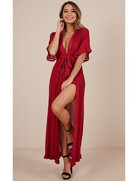 Sweet Smile Maxi Playsuit In Wine by Showpo Fashion