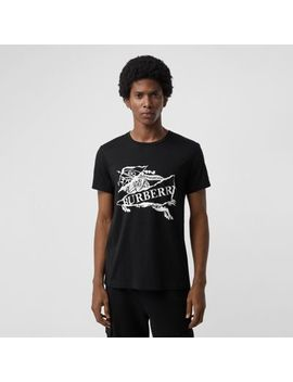 Collage Logo Print Cotton T Shirt by Burberry