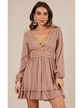 Sweet Lady Dress In Mocha by Showpo Fashion