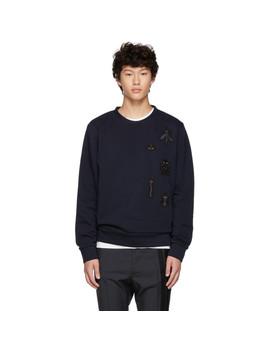 Navy 'super Bugs' Sweatshirt by Fendi