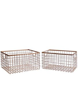 Slpr Wire Storage Shelf Basket (Set Of 2, Copper) | Organizer Storage Container For Laundry Pantry Freezer Cabinet by Slpr