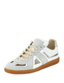 Men's Cutout Replica Low Top Sneakers by Maison Margiela