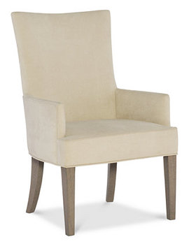 Rachel Ray Highline Upholstered Host Chair by Rachael Ray Highline Expandable Trestle Dining Furniture Collection