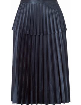 Pleated Satin Midi Skirt by Noir Kei Ninomiya