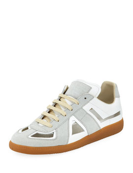 Men's Cutout Replica Low Top Sneakers by Maison Margiela