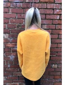 Fleece by Vintage Adidas Fleece Sweatshirt Teddy Bear Yellow Mustard
