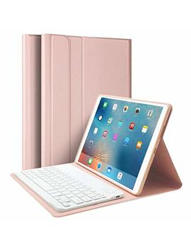 Ipad Case 9.7 Inch 2018 With Bluetooth Keyboard, Lachesis I Pad Air 1/2 Case With Keyboard 2017, Slim Shell Cover With Magnetically Detachable Keyboard For I Pad 6th / 5th by Lachesis