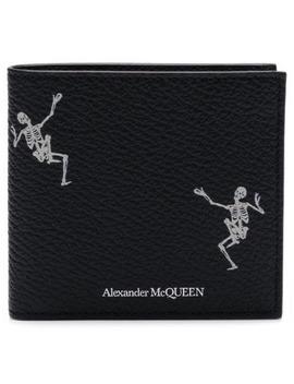 Studded Skull Billfold Wallet by Alexander Mc Queen