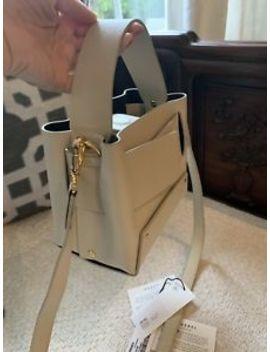 Yuzefi Dinky Ivory Tote Strap Leather Bag Mint by Yuzefi