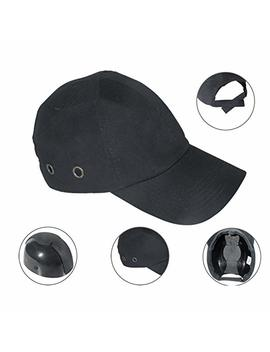 Zinnor Baseball Bump Cap Lightweight Safety Hard Hat Head Protection Cap Adjustable Protective Hat (Black) by Zinnor