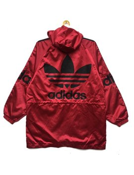 Vintage 90s Adidas Hoodie Jackets Adidas X Descente Windbreaker Spell Out Big Logo Sweater Size Large by Etsy