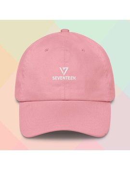 Seventeen Carat Kpop Embroidered Dad Cap (Available In 4 Colors: Black, Blue, Pink, And White) by Etsy