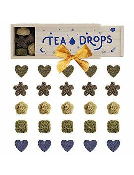 Tea Drops Instant Organic Pressed Teas   Large Herbal Tea Sampler Assortment Box   Dissolves In Your Cup Eliminating The Need For Teabags And Sweetener Packets   Loose Leaf... by Tea Drops