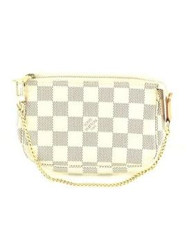 Louis Vuitton Damier Azur Mini Pochette Accessoires Hand Pouch N58010 by Louis Vuitton