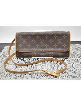 Authentic Louis Vuitton Cosmetic Pouch Pochette Twin Gm M51852 Monogram 353743 by Louis Vuitton