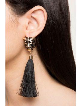 Panther Tassel Drop Earrings by A'gaci