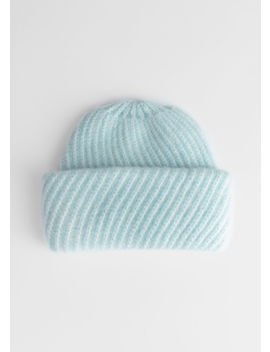Diagonal Wool Blend Knit Beanie by & Other Stories