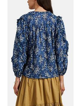 Manet Floral Cotton Silk Blouse by Ulla Johnson