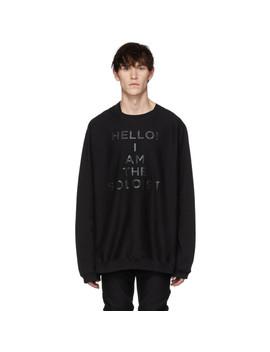 Black 'hello I Am The Soloist' Freedom Sweatshirt by Takahiromiyashita Thesoloist.