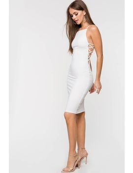Heaven Side Cut Out Dress by A'gaci