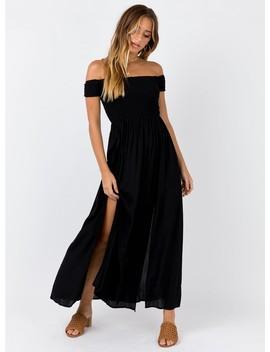 Sun Slumber Maxi Dress Black by Princess Polly