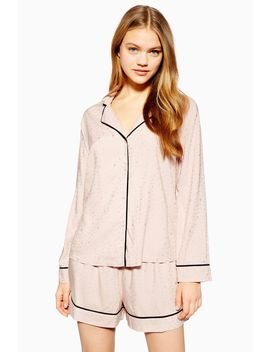 Pink Star Jacquard Shirt by Topshop