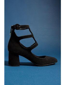 Bruno Premi Suede Block Heels by Bruno Premi
