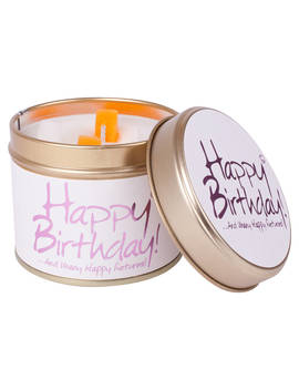 Lily Flame Happy Birthday Scented Candle Tin by Lily Flame