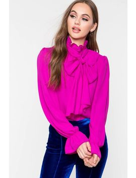 Jamy Tie Neck Blouse by A'gaci