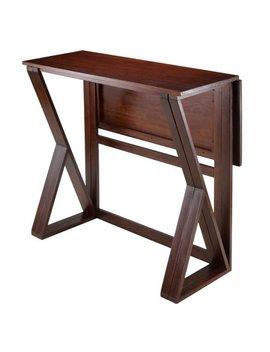 Winsome Wood Harrington Drop Leaf High Table, Walnut by Winsome Wood