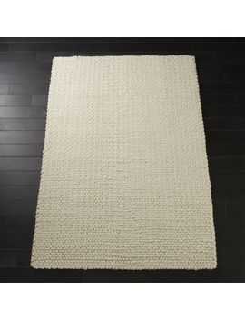 Topknot Natural Wool Rug 5'x8' by Crate&Barrel