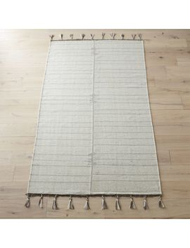 Trim Grey And Natural Rug 5'x8' by Crate&Barrel