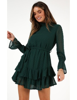 Could You Tell Dress In Green by Showpo Fashion