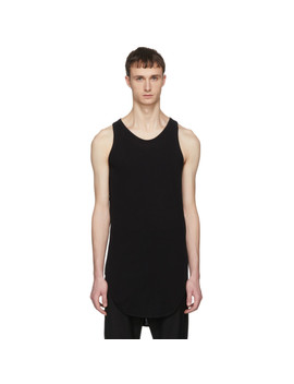 Black Rib Tank Top by Julius
