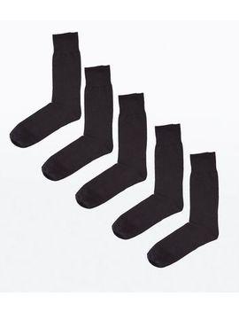 5 Pack Black Socks by New Look