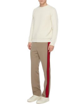 Striped Wool Crepe Pants by Lanvin