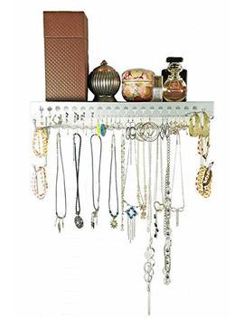 Mango Steam Wall Mounted Jewelry Organizer Shelf (17 Inch, Silver) by Mango Steam
