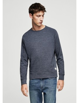 Flecked Cotton Blend Sweatshirt by Mango
