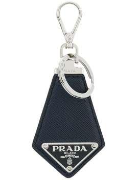 Nyckelring Med Logotypplakett by Prada