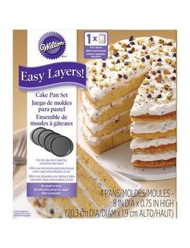 Wilton Easy Layers! Cake Pan Set, 8 In., 4 Pc. by Wilton