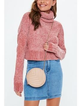 Blush Circular Quilted Bag by Missguided