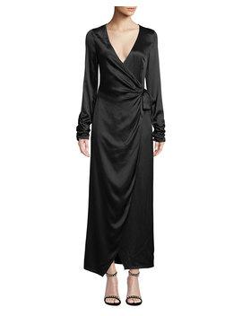 Austen Long Sleeve Maxi Length Wrap Dress by Donna Mizani