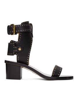 Black Vegetal Iconic Jaeryn Sandals by Isabel Marant