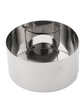 Kitchen Metal Round Bread Cookie Dessert Cake Cutter Making Mould Silver Tone by Unique Bargains