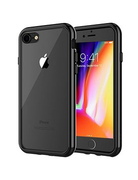 Je Tech Case For Apple I Phone 8 And I Phone 7, 4.7 Inch, Shock Absorption Bumper Cover, Anti Scratch Clear Back, Black by Je Tech