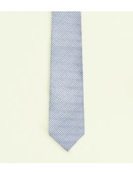 Silver Chevron Tie by New Look