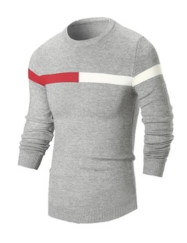 Men Color Block Striped Jumper by Sheinside