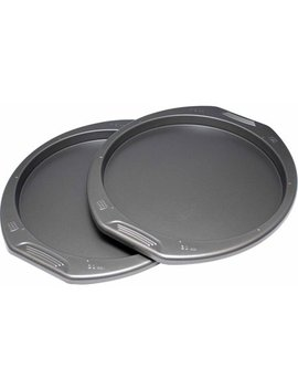 """Preferred Set Of 2 Pizza Pans, 12"""" by Preferred"""